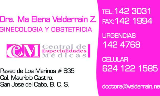 Dra Ma Elena Velderrain Zazueta