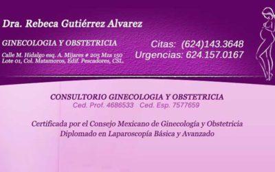 Dra Rebeca Gutierrez Alvarez